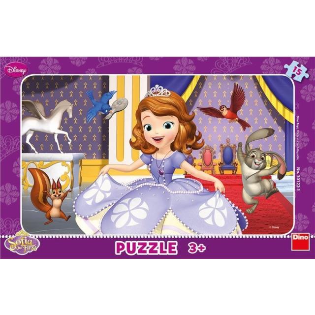 Obrázek produktu Puzzle WD Sofia první 15d. Dino