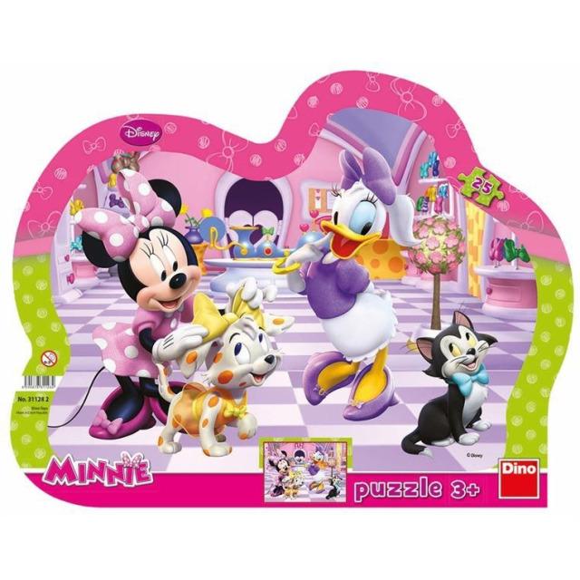 Obrázek produktu Tvarové Puzzle WD Minnie & Mazlíčci 25d. Dino