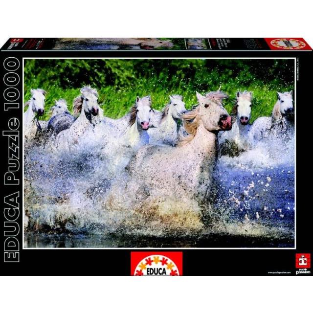 Obrázek produktu Puzzle Bílí Camargští koně 1000 dílků, Educa
