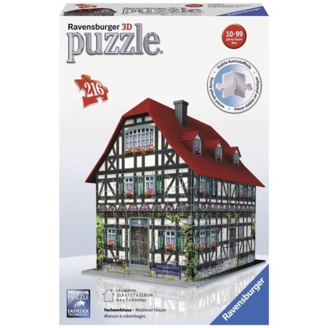 Obrázek produktu 3D Puzzle Středověký dům 216d. Ravensburger