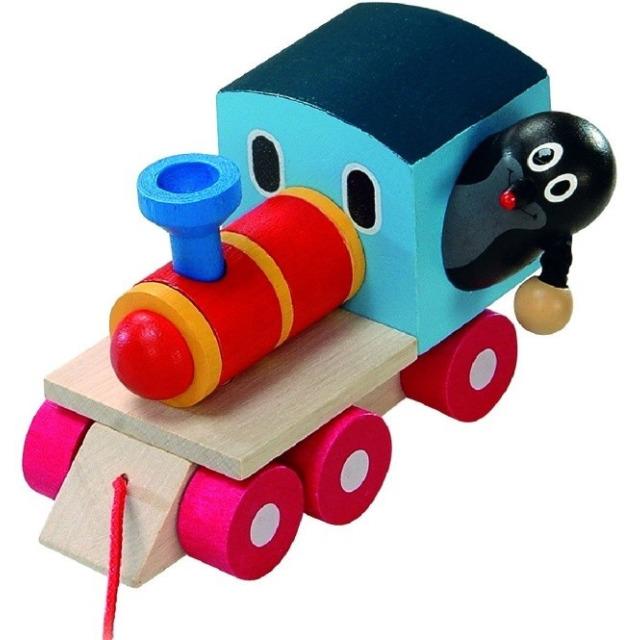 Obrázek produktu Krtek a mašinka dřevo, 12 cm