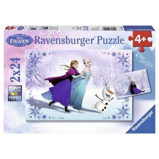 Obrázek 1 produktu Puzzle Ledové království 2 x 24d. Ravensburger