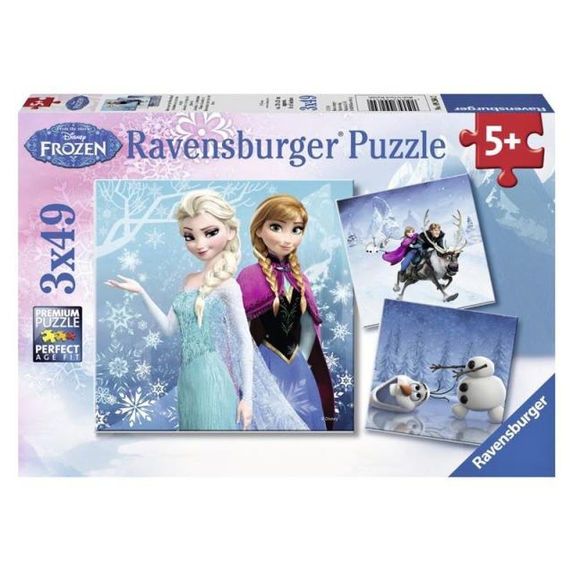 Obrázek produktu Ravensburger 09264 Puzzle Ledové království 3 x 49 dílků