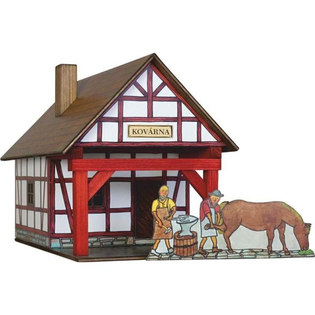 Obrázek produktu Walachia Hrázděná kovárna - dřevěná slepovací stavebnice