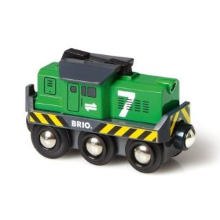 Obrázek 1 produktu BRIO 33214 Elektrická nákladní lokomotiva zelená
