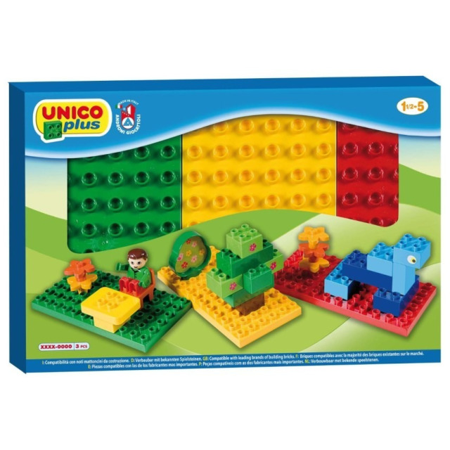 Obrázek produktu Podložky na stavění Unico Plus, zelená, žlutá, červená