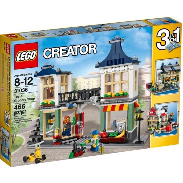 Obrázek produktu LEGO Creator 31036 Obchod s hračkami a potravinami 3 v 1
