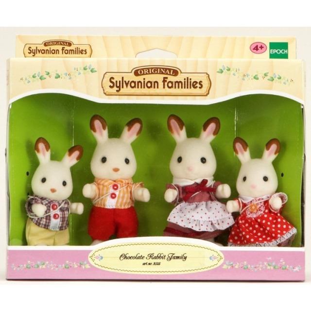 """Obrázek produktu Sylvanian Families 4150 Rodina """"chocolate"""" králíků"""