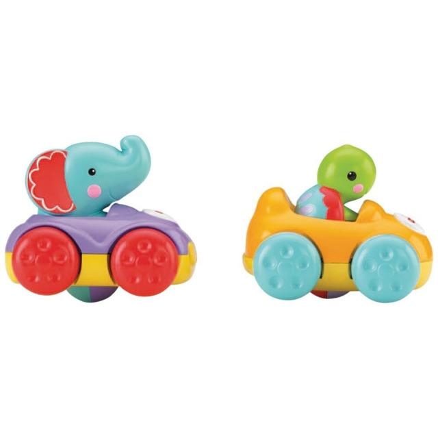 Obrázek produktu Zvířecí kamarádi Želva a Slůně s autíčky, Fisher Price BJT90