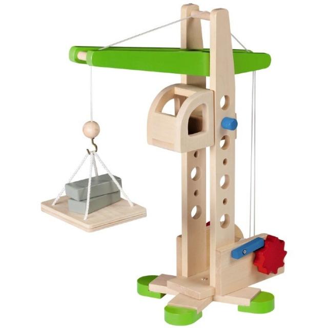 Obrázek produktu JohnToy Dřevěný jeřáb