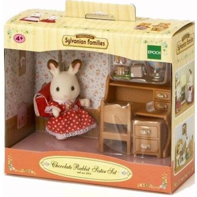 Obrázek produktu Sylvanian Families 5016 Sestřička čokoládových králíků u psacího stolu