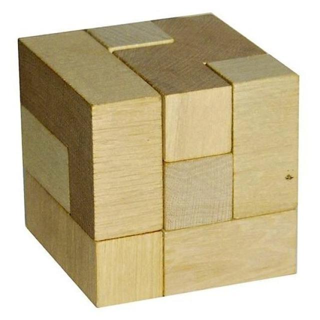 Obrázek produktu Hlavolam kostka dřevo 6x6 cm