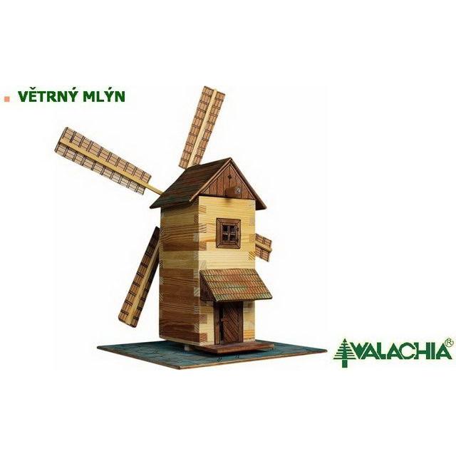 Obrázek produktu Walachia Větrný mlýn - dřevěná slepovací stavebnice