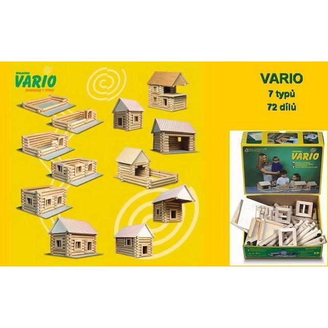 Obrázek produktu Walachia Vario 7 typů - dřevěná stavebnice - 72 dílů
