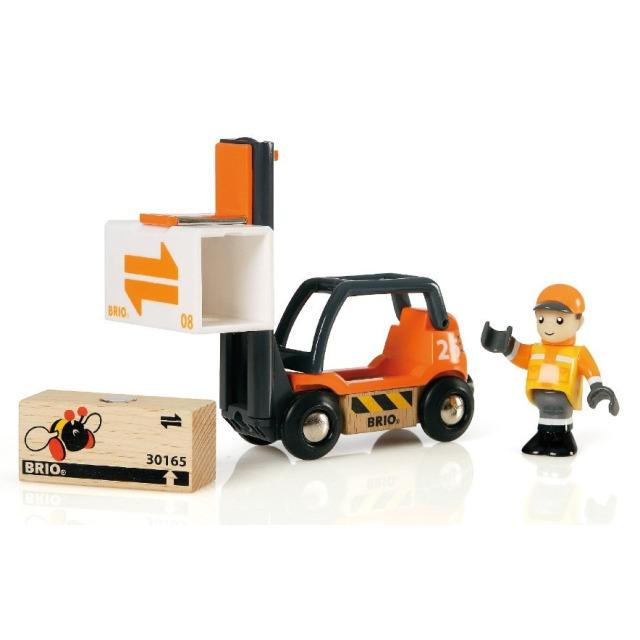 Obrázek produktu BRIO 33573 Vysokozdvižný vozík pro přepravu palet