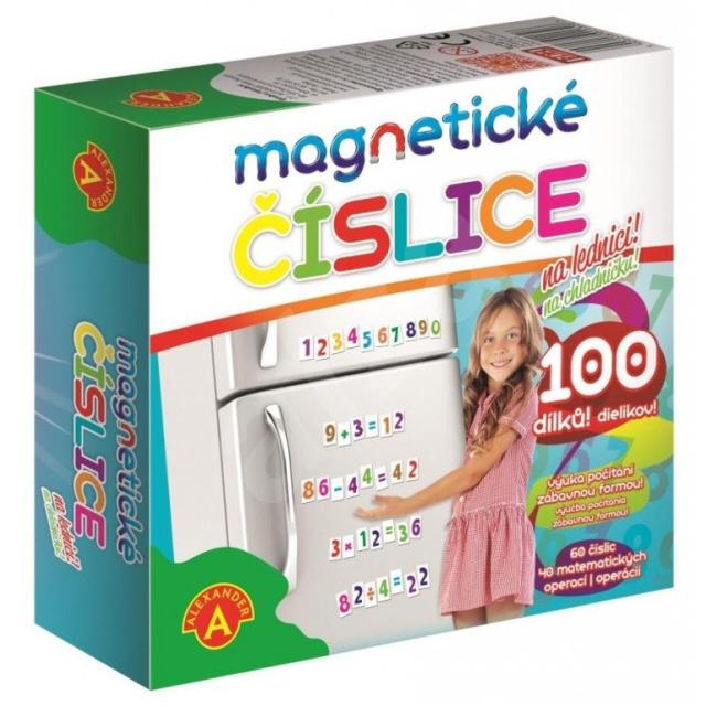 Obrázek produktu Magnetické číslice na lednici 100 dílků