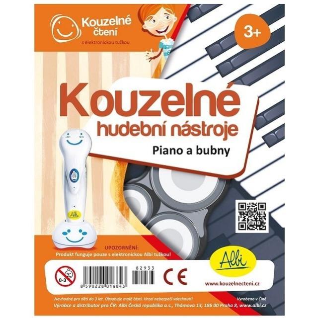 Obrázek produktu Albi Kouzelné čtení Kouzelné hudební nástroje Piano a bubny