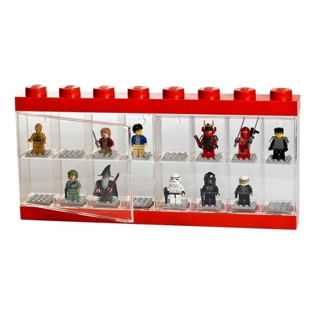 Obrázek produktu LEGO vitrínka na 16 minifigurek červená