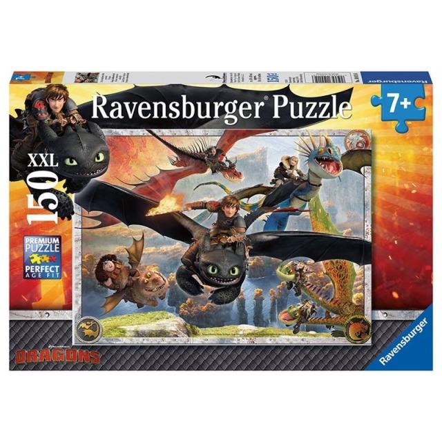Obrázek produktu Ravensburger 10015 Puzzle Jak vycvičit Draka - dračí letka XXL 150d.