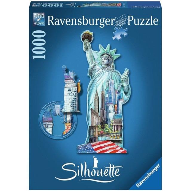 Obrázek produktu Ravensburger 16151 Puzzle Socha Svobody, New York - tvarové 1000 dílků