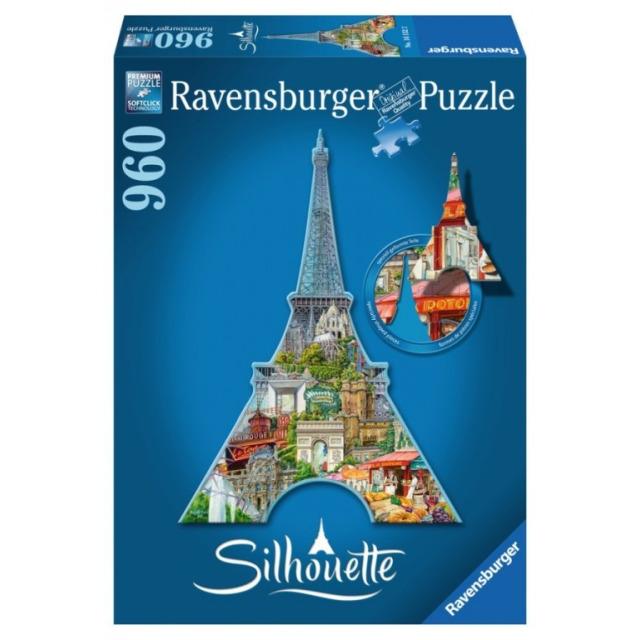 Obrázek produktu Ravensburger 16152 Puzzle Eiffelova věž, Paříž - tvarové 960 dílků