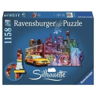 Obrázek 1 produktu Ravensburger 16153 Puzzle Skyline, New York - tvarové 1158 dílků