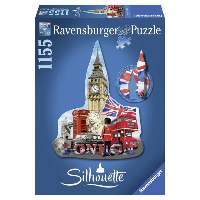 Obrázek produktu Puzzle Big Ben, London - tvarové 1155d. Ravensburger