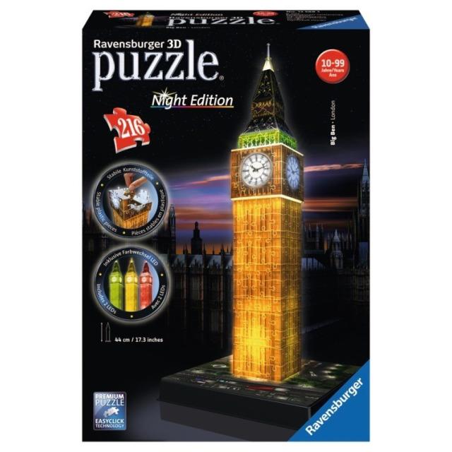 Obrázek produktu Ravensburger 12588 Puzzle 3D Big Ben Noční Edice 216 dílků
