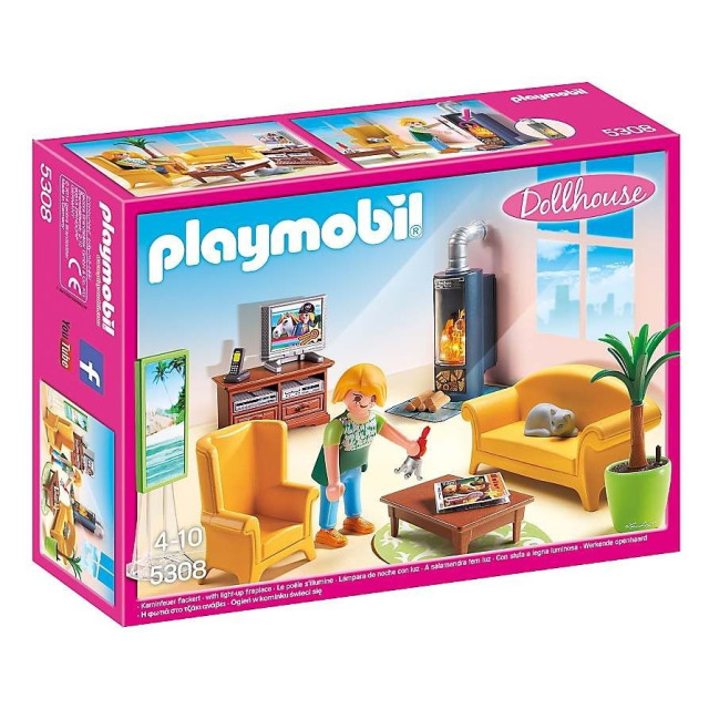Obrázek produktu Playmobil 5308 Obývací pokoj s krbem