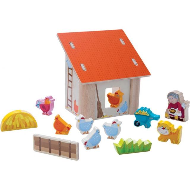 Obrázek produktu Dřevěný babiččin dvorek s kurníkem