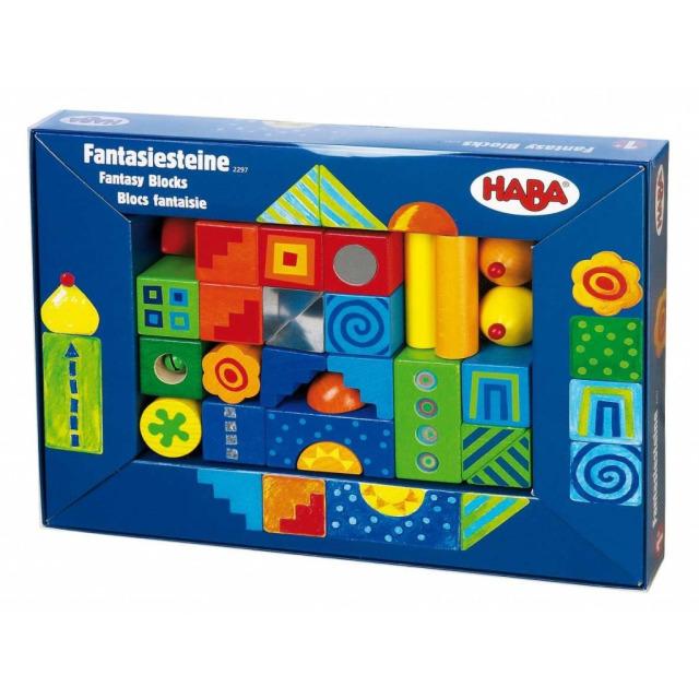 Obrázek produktu Dřevěné barevné kostky Fantazie