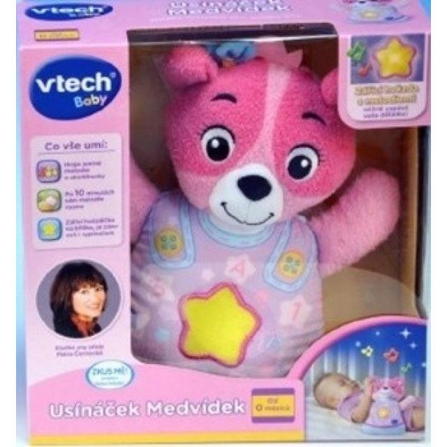 Obrázek produktu V-tech Usínáček medvídek růžový