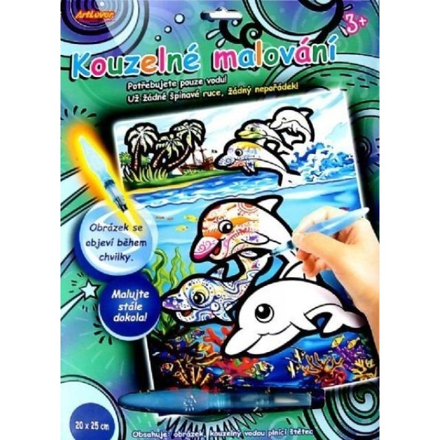 Obrázek produktu Kouzelné malování vodou 20x25cm A Delfíni