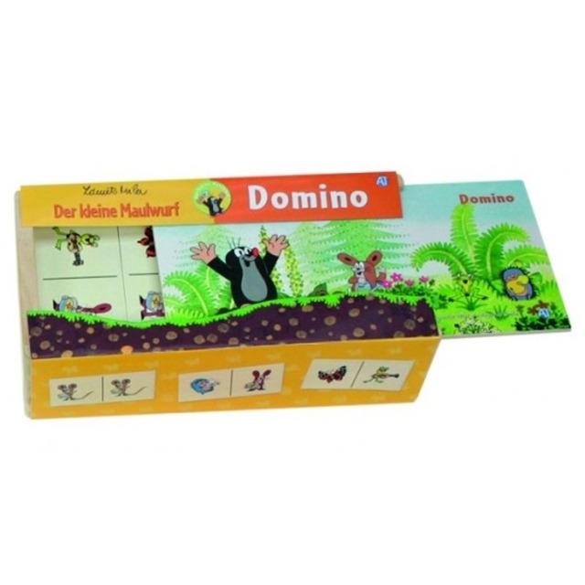 Obrázek produktu Domino Krtek dřevo 28 dílků