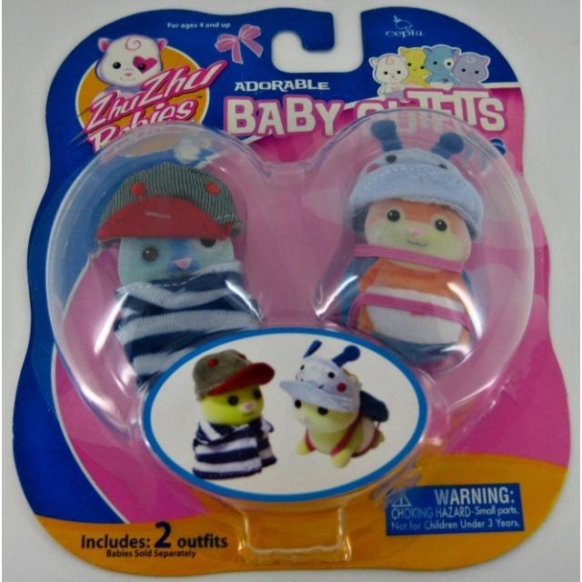 Obrázek produktu Zhu Zhu Babies Oblečky pro miminka modré s proužky