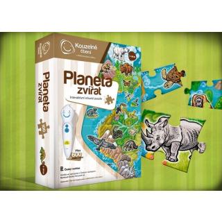 Obrázek 1 produktu Albi Kouzelné čtení Puzzle Planeta zvířat
