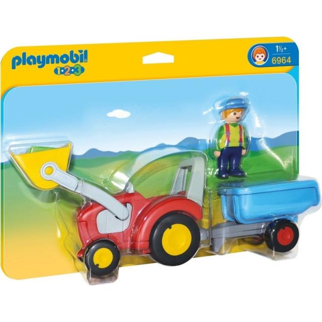 Obrázek produktu Playmobil 6964 Traktor s přívěsem (1.2.3)