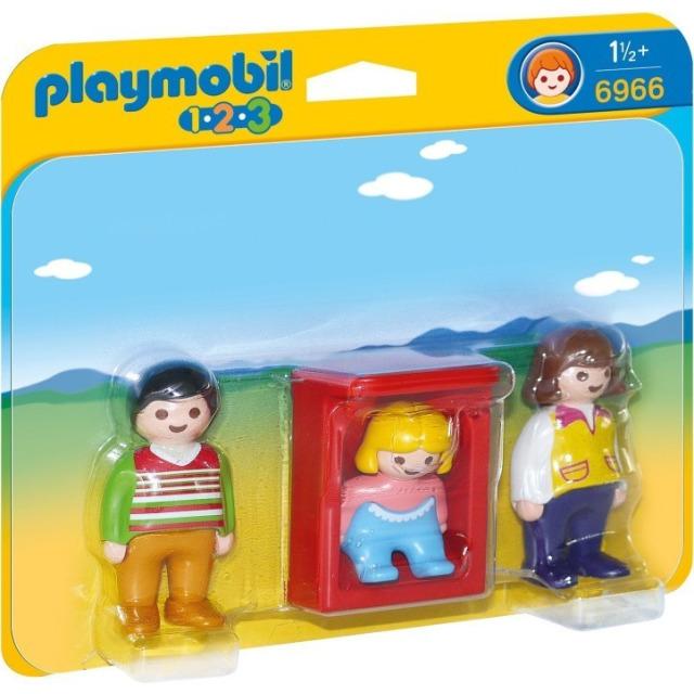 Obrázek produktu Playmobil 6966 Rodiče s dítětem v kolébce (1.2.3)