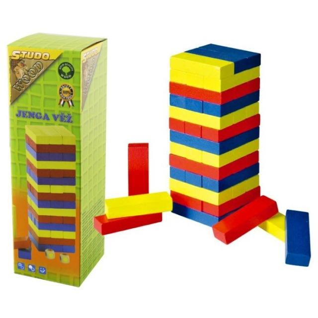 Obrázek produktu Jenga věž dřevěná barevná