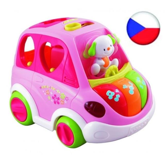 Obrázek produktu V-tech Mluvící auto vkládačka růžové