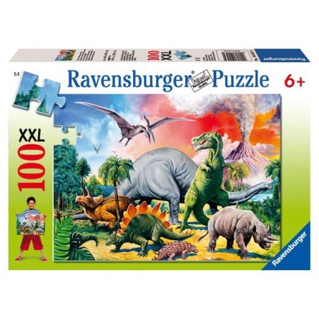 Obrázek produktu Ravensburger 10957 Puzzle Mezi Dinosaury XXL 100 dílků