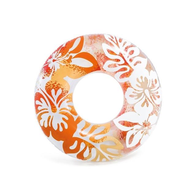 Obrázek produktu Intex 59251 Kruh plovací Květiny 91cm oranžový