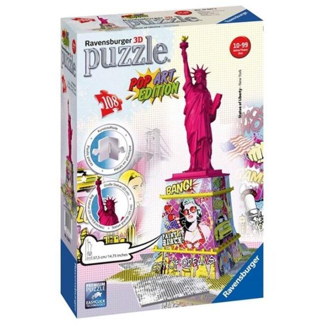 Obrázek produktu 3D Puzzle Socha svobody Pop Art 108d. Ravensburger
