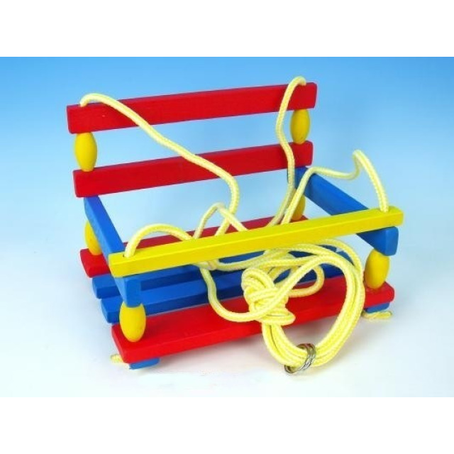 Obrázek produktu Houpačka dřevěná barevná 38 x 30 cm