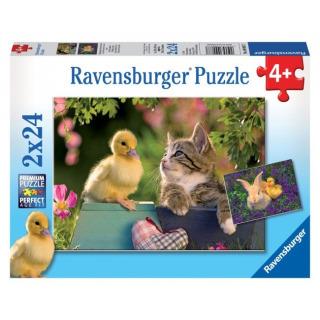 Obrázek 1 produktu Puzzle Kachní přítel 2x24d. Ravensburger