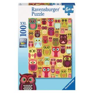 Obrázek 1 produktu Puzzle Sovy 100d. Ravensburger
