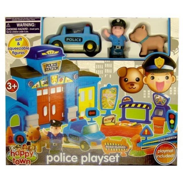 Obrázek produktu Policejní stanice s policistou, autíčkem a psem