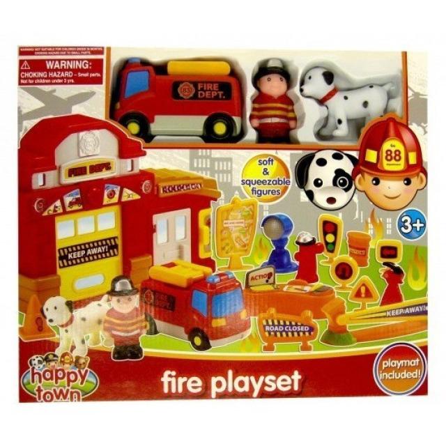 Obrázek produktu Požární stanice s hasičem, autíčkem a psem