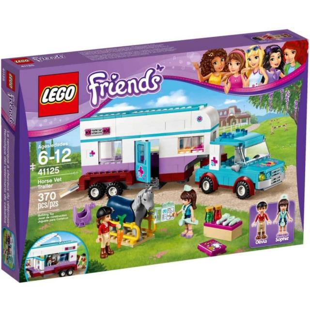 Obrázek produktu LEGO FRIENDS 41125 Veterinářský přívěs s koněm