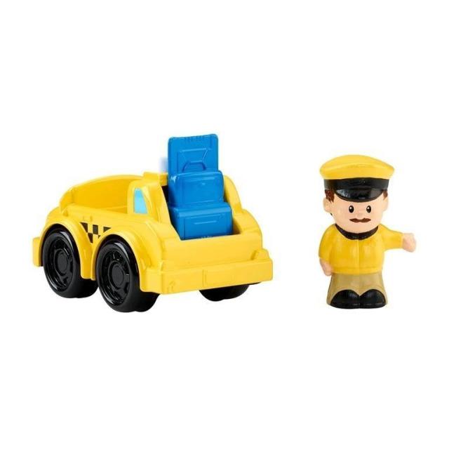 Obrázek produktu Fisher Price Little People Taxi s řidičem, Mattel CDH60